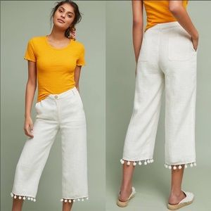 Anthropologie ett:twa Pom Pom High Waist Pants. L